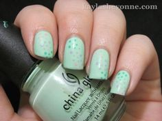 polka dots!  This would be so cute as a rainbow on a green (or gold) background for St. Pat's Day.