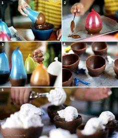 Postres vasos para helado