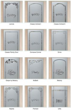 I love frosted glass pantry doors! Bring light into the pantry without spotlighting the contents of the room! MV