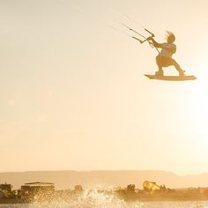 Golden hour in El Gouna /w @liamwhaley shot by @romantsovaphoto during the @worldkiteboardingleague