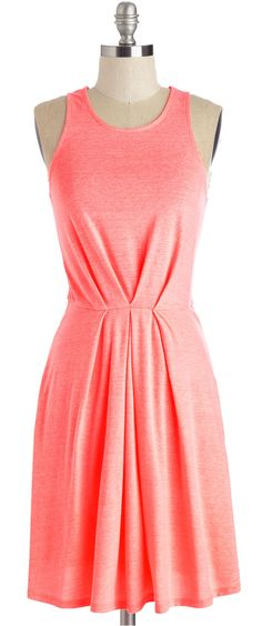 bright coral tank dress - so peachy! #WithLovePeach