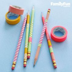 Pencil Power: Personalize a writing utensil with a few pieces of washi tape. We found that the paper tape doesn't interfere with sharpening, so feel free to write on!