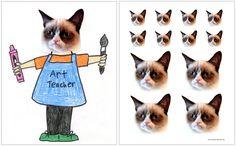 William Wegman Inspired Project:  Fun with Grumpy Cat