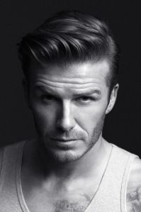 David Beckham's undercut styled in a modern pompadour. Uh...yes please!