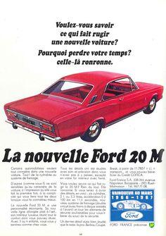 Ford 20 M (Taunus) - Réalités, décembre 1967