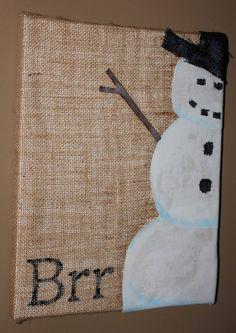 Very Cute!! Christmas decoration Snowman decoration wall art by QTsCreations, $10.95