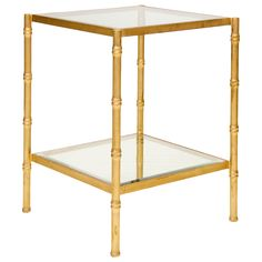 I have 2 bedside tables that look just like this I got for $5, these are $813.00 Worlds Away Serena Gold Leaf Side Table @LaylaGrayce