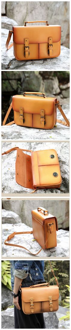 Handmade Leather Messenger Modern Fashion Bag Handbag Leather Satchel Crossbody Bag AK06 Overview: Design: Vintage Vegetable Tanned Leather Messenger In Stock: 4-5 days For Making Include: Only Messen