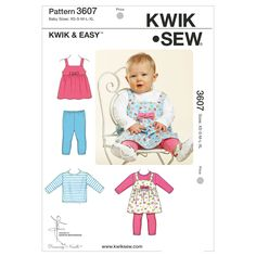 Mccall Pattern K3607 Xs-S-M-L-X-Kwik Sew Pattern