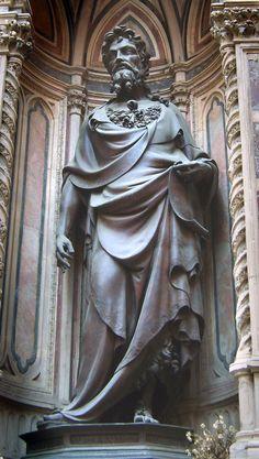 Lorenzo Ghiberti, San Giovanni Battista, 1412-1416, bronzo, Chiesa di Orsanmichele (Firenze), Museo di Orsanmichele, Firenze