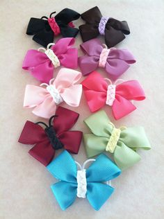 Butterfly Hair Bows. $4.00, via Etsy.