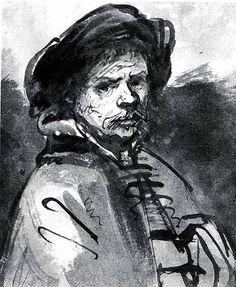 "Rembrandt van Rijn, ""Self-Portrait"""