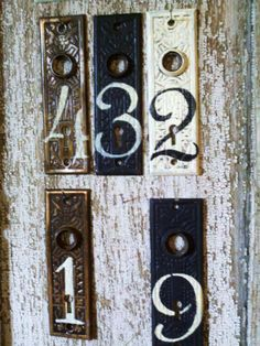 Custom House Numbers Or Door Plates...These Are Antique Door Plates
