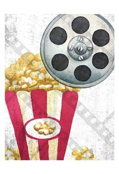 Art Print: Movie Time 2 by Kimberly Allen : About Time Movie, Custom Framing, Fine Art Prints, Holiday Decor, Create, Movies, Image, Color, Catalog
