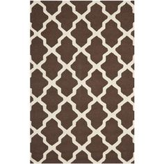 Safavieh Cambridge 5-ft x 8-ft Rectangular Brown Geometric Wool Area Rug  Christine's favorite