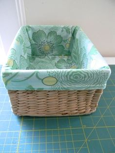 fabric lined basket from a happy stitch