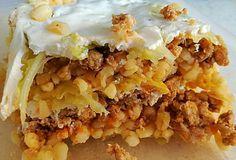 Rakott kelkáposzta, bulgurral Hungarian Recipes, Cheesesteak, Pie, Ethnic Recipes, Desserts, Food, Kitchen, Bulgur, Torte