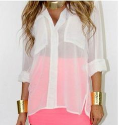 Transparent white shirt    #shirt #pink #style #fashion