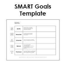 Smart Goals Template  Random Things    Goals Template