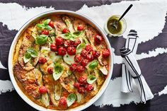 This gluten-free, meat-free bake is a perfect mash-up of parmi and lasagne. Almond Recipes, Gluten Free Recipes, New Recipes, Vegetarian Recipes, Savoury Recipes, Turkey Recipes, Delicious Recipes, Dinner Recipes, Lasagne Recipes