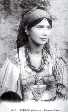 Young jewish berber girl 1917