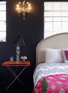 Little Green Notebook: Black Walls in Our Bedroom