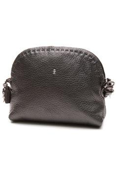 Henry Beguelin Black Pebbbled Leather Crossbody Bag b67059bc47698