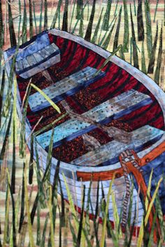 The Boat an Art Quilt by BSLArtQuilts on Etsy