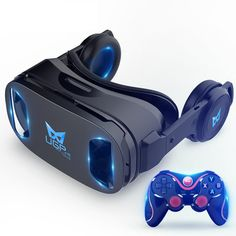 9fe02803ad1d UGP 3D IMAX Virtual Reality Helmet VR Headset For Smartphone 4.5-6 Inch  With Bluetooth
