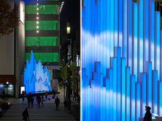 torafu architects: crystal aqua trees at tokyo's SONY building