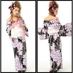 Oiran Yukata Style. Japanese Cotton, Yukata, Kawaii Fashion, Summer Wear, Kimono, Ruffle Blouse, Cosplay, Asian, How To Wear