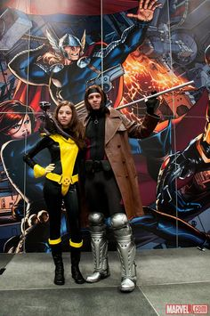 NYCC Kitty Pryde & Gambit Cosplayers on the Marvel Stage. Just saw these guys at the Philly CC this weekend! Kitty Pryde, Gallery Gallery, Marvel Cosplay, Now And Forever, Xmen, Cartoon Characters, Nerdy, Stage, New York