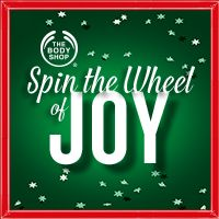 I just spun the Wheel of JOY and got a fab offer! You've got to try it! SpinNow> #tbswheelofjoy http://bodyshop.promo.eprize.com/wheelofjoy/  I LOVE the Body SHOP lotions!  They are so effective against the dry desert of Arizona