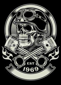 Resultado de imagem para skull motorcycle tattoo