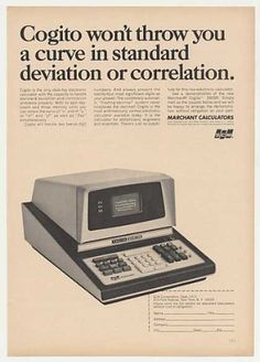 SCM Marchant Cogito 240SR Electronic Calculator (1966).