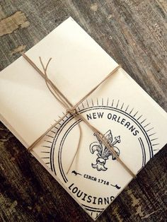 sports shoes 129ea fa4c2 Hand Stamped Notecards, New Orleans Seal by MadDarling on Etsy New Orleans  Hotels, Bourbon