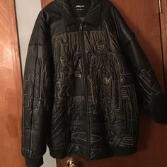 Black leather pelle pelle jacket Black leather Pelle Pelle Big Pimpin jacket. Jacket has a tear located on the left shoulder. Pelle Pelle Jackets & Coats