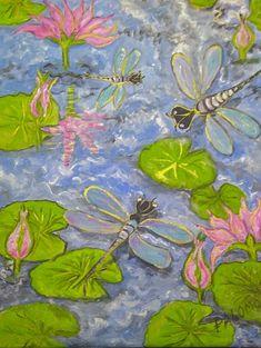 GALERIA PALOMO MARIA LUISA: LA MAGIA DE LAS LIBELULAS Painting, Magick, Paintings, Art, Painting Art, Paint, Draw