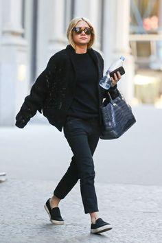 Mode: Ashley und Mary-Kate Olsen – so trägt man Schwarz