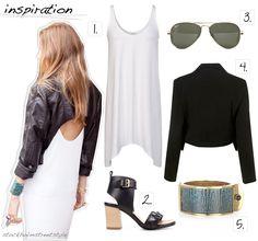 #Inspiration1. StyleMint Charlie Dress2. Zara Shoes3. Ray-Ban Aviators4. Topshop Cropped Jacket5. Kara Ross Cuff