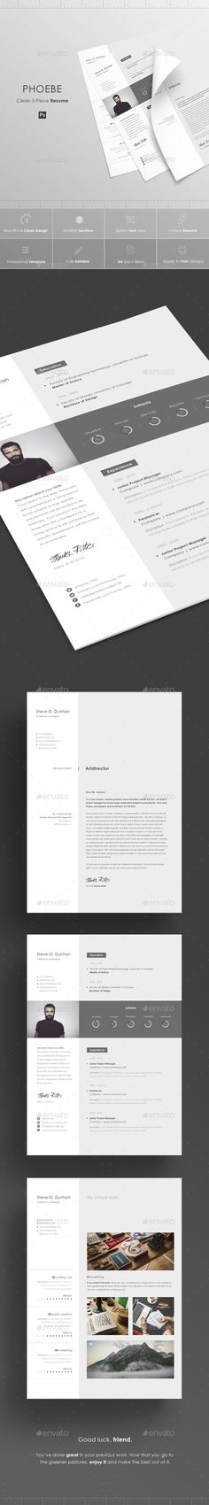 Resume - #Resumes #Stationery Download here: https://graphicriver.net/item/resume/15399223?ref=alena994