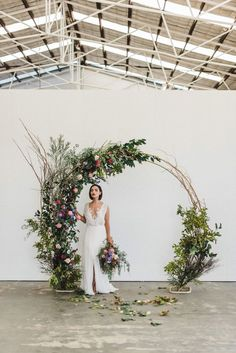 Floral circle arch wedding backdrop - would be lovely at the barn as a ceremony backdrop 💕 boho wedding dress/wedding quizes/wedding/rustic wedding/outdoor wedding dress/ Wedding Bows, Wedding Flowers, Dream Wedding, Wedding Day, Arch Wedding, Trendy Wedding, Backdrop Wedding, Wedding Church, Elegant Wedding