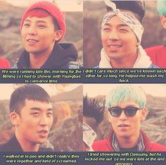 G-Dragon, Seungri, Taeyang and  T.O.P