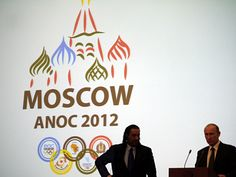 Sheikh Ahmad and Vladmir Putin in front of the ANOC Moscow General Assemby. (ATR)  Add Around The Rings on www.Twitter.com/AroundTheRings & www.Facebook.com/AroundTheRings for the latest info on the Olympics.