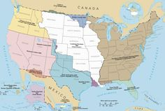 A map of the historical territorial expansion of the United States of America