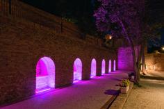 Park at Villa Colloredo Mels, Recanati, Italy. Lighting design: Dean Skira.