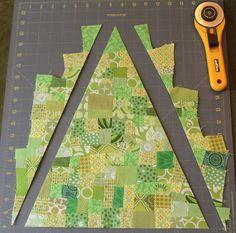 Between Quilts: Tutorial: Scrappy Advent Calendar