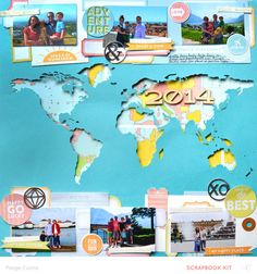 #papercraft #Scrapbook #layout.  2014 by PaigeEvans at @studio_calico
