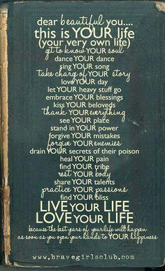 Dear beautiful you..