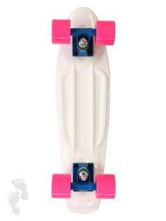 New colour combo of our retro skateboard Cruiser (22 inch deck) | twobarefeet.co.uk